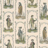 Lewis & Wood Four Seasons Green / Neutral Wallpaper
