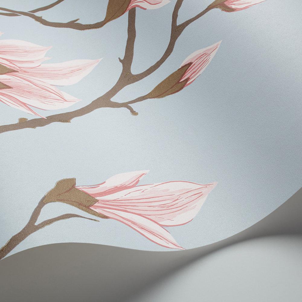 Magnolia Wallpaper - Blue - by Cole & Son