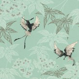 Osborne & Little Grove Garden Duck Egg Wallpaper