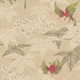 Osborne & Little Grove Garden Gold / Lime / Rose Wallpaper