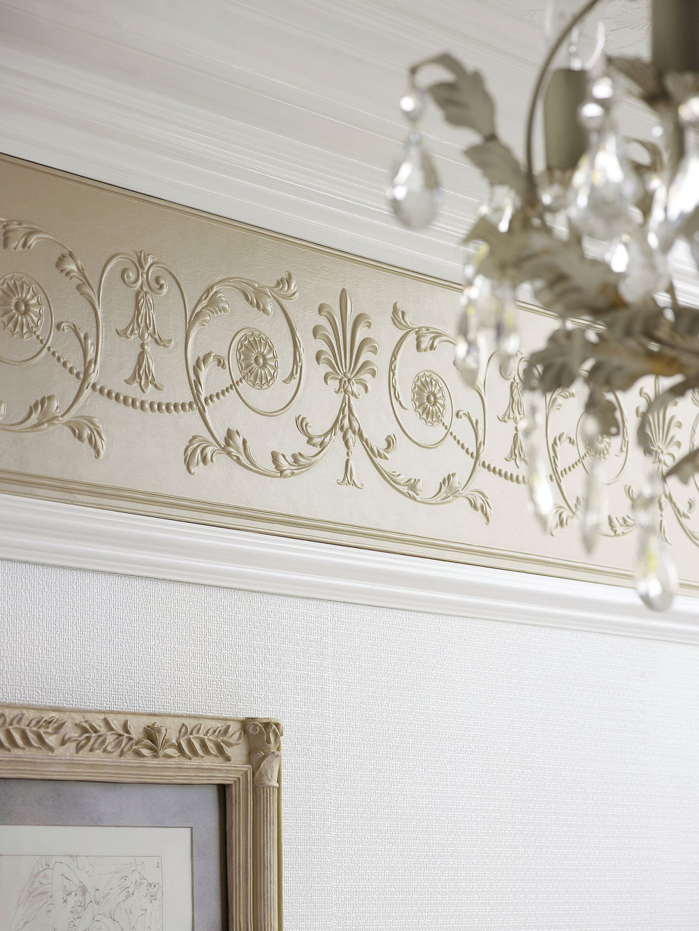 Diana Frieze by Lincrusta - Paintable : Wallpaper Direct
