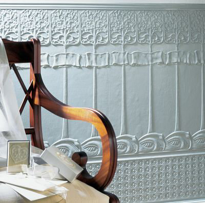 Lincrusta Art Nouveau Dado Paintable Wallpaper - Product code: RD1965FR