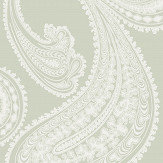 Cole & Son Rajapur White / Soft Grey Wallpaper