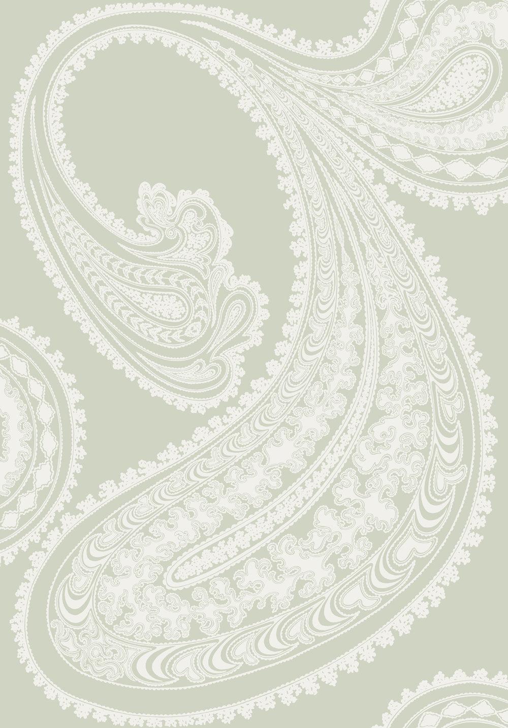 Cole Son Rajapur White Soft Grey Wallpaper Main Image