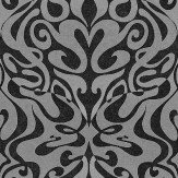 Cole & Son Woodstock Silver Foil / Black Wallpaper