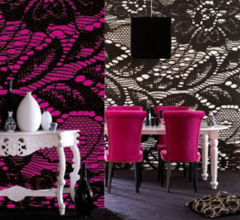 fashion meets decor {black lace bliss