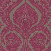 Osborne & Little Dryden Pink / Brown Wallpaper