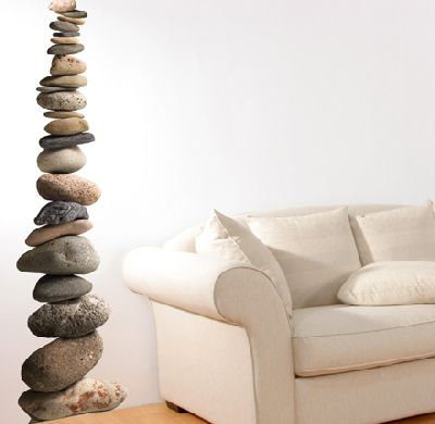 Image of Creative Wall Art Stickers Pebbles, 160302