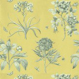 Sanderson Etchings and Roses Wallpaper