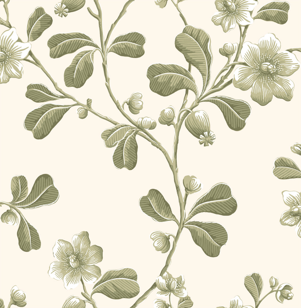Little Greene Broadwick St Apple Green Wallpaper main image