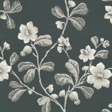 Little Greene Broadwick St Black / White Wallpaper