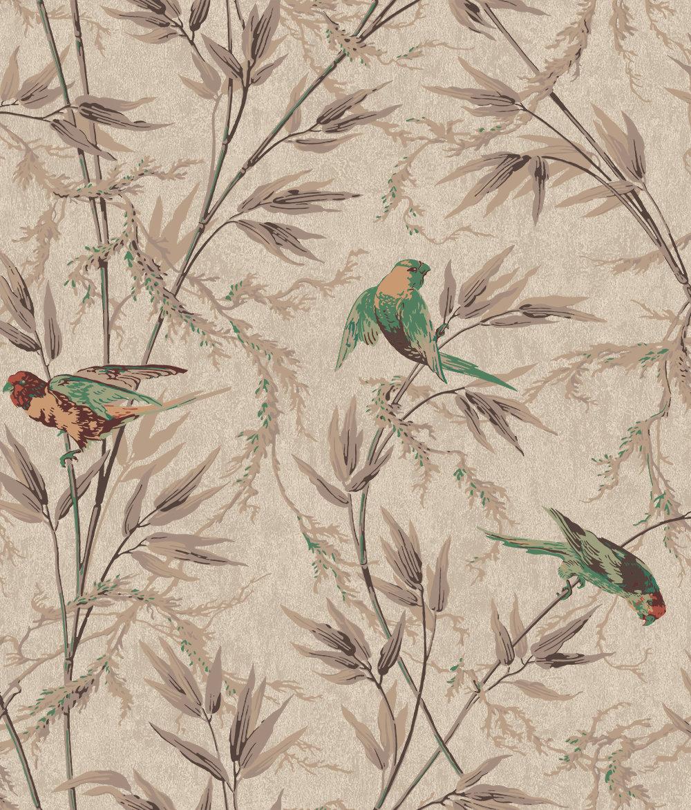 Little Greene Great Ormond St Coffee Wallpaper - Product code: 0251GOCAPPU