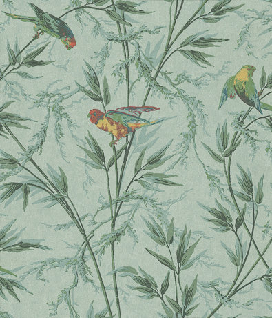 Little Greene Great Ormond St Aqua and Green Wallpaper main image