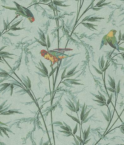 Little Greene Great Ormond St Aqua and Green Wallpaper - Product code: 0251GOVERDI