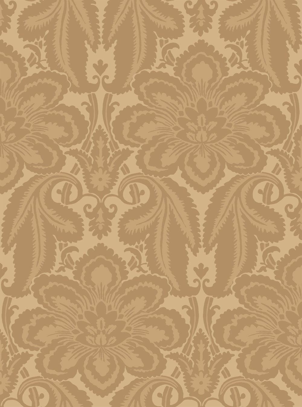 Little Greene Albemarle Golden Yellow Wallpaper main image