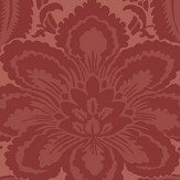 Little Greene Albemarle Flame Red Wallpaper