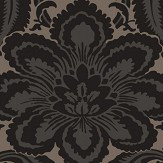 Little Greene Albemarle Charcoal Wallpaper