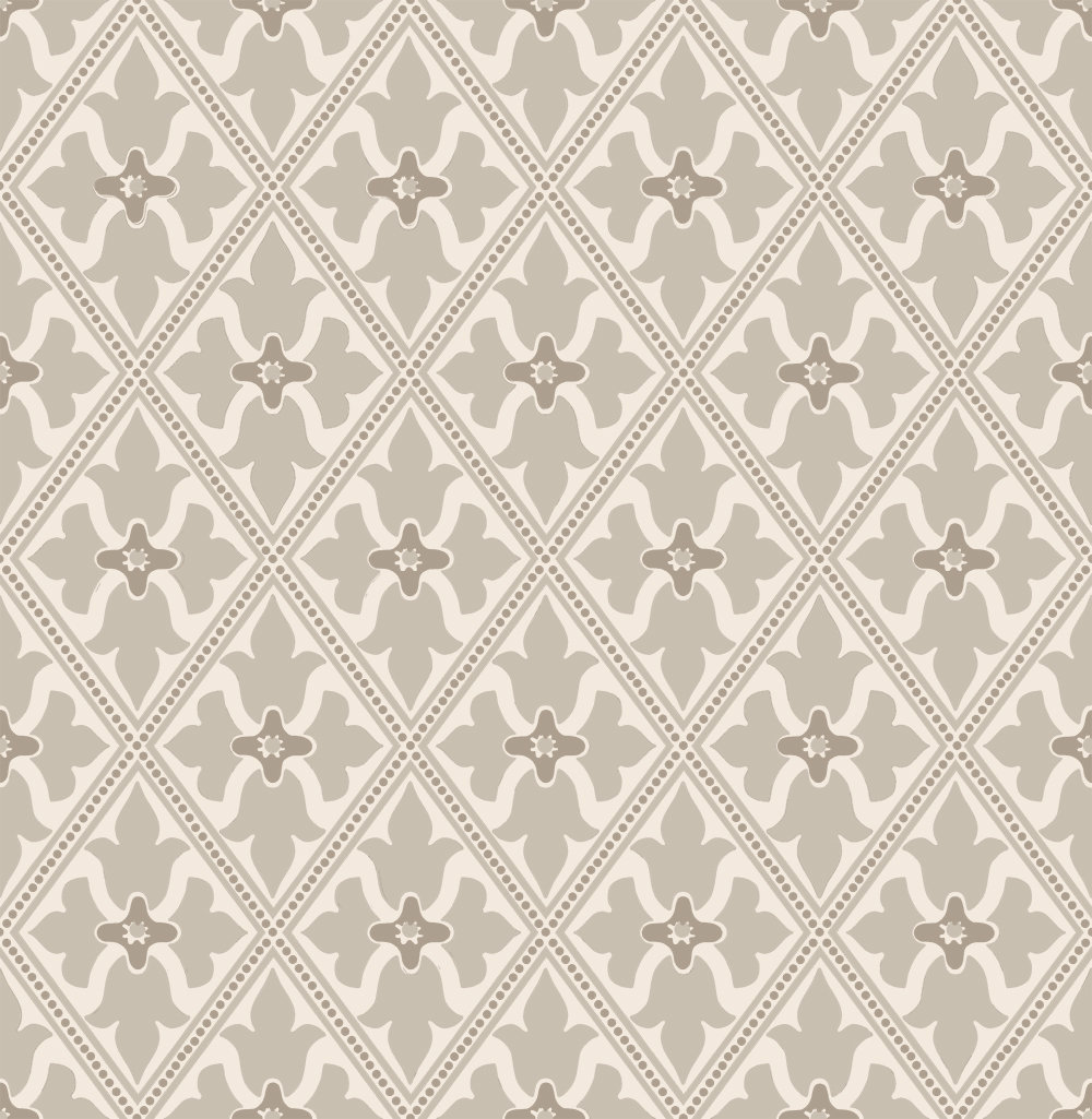 Little Greene Bayham Abbey Pale Grey and Stone Wallpaper main image