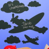 Creative Wall Art Chalkboard Planes & Clouds Sticker