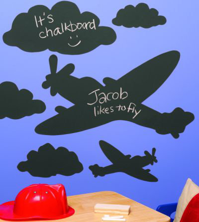 Creative Wall Art Chalkboard Planes & Clouds Sticker main image