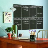 Creative Wall Art Chalkboard Slate Grey - 4 sheets Sticker