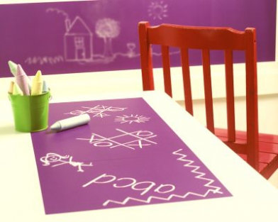 Image of Creative Wall Art Stickers Chalkboard Grape - 4 sheets, 16003