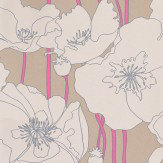 Osborne & Little Arizona Taupe / Pink Wallpaper - Product code: W5801/01