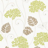 Kandola Hydrangea Lime / Cream Wallpaper - Product code: W1434/05/213