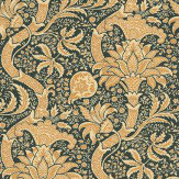 Morris Indian Black / Gold Wallpaper - Product code: DMOWIN101