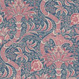 Morris Indian Indigo / Red Wallpaper