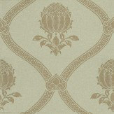 Morris Granada Eggshell / Gold Wallpaper