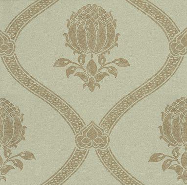 Morris Granada Eggshell / Gold Wallpaper main image