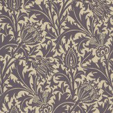 Morris Thistle Mulberry / Linen Wallpaper
