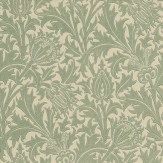 Morris Thistle Duck Egg / Ivory Wallpaper