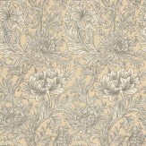 Morris Chrysanthemum Toile Ivory / Gold Wallpaper - Product code: DMOWCH103