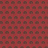 Morris Red House Black / Gold / Red Wallpaper