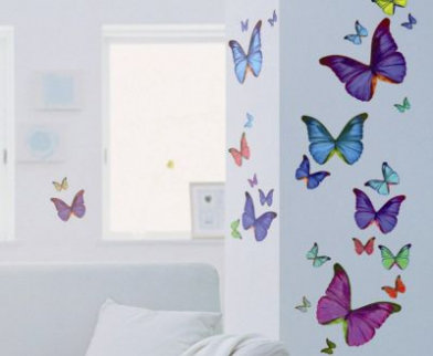 Image of Creative Wall Art Stickers Ultra multicolour butterflies stickers, 160356