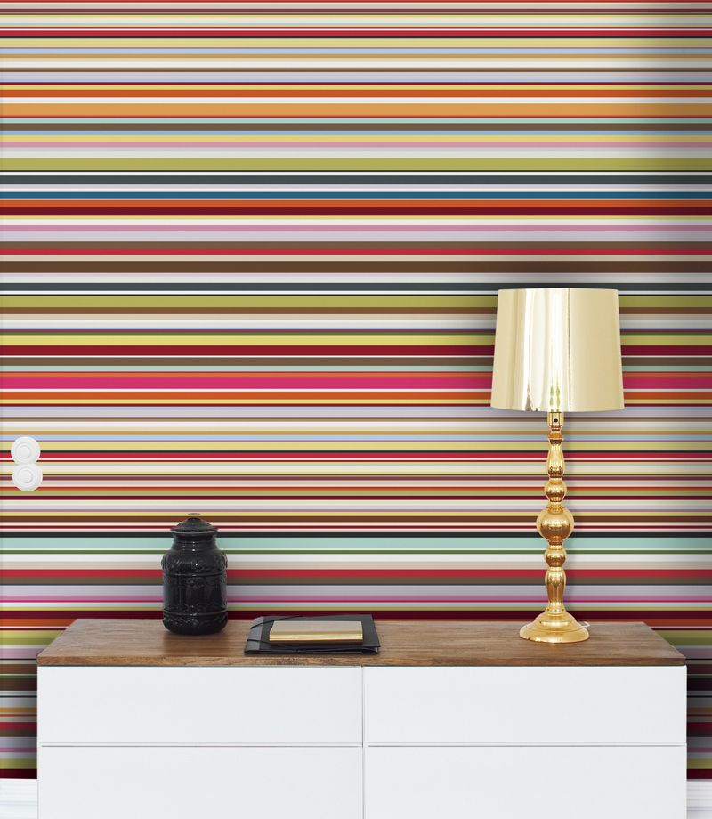 Stripes mural by mr perswall wallpaper direct for Wallpaper direct