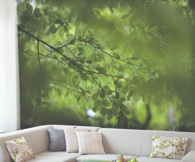 Mr Perswall Green Leaves Mural - Product code: DM322-1