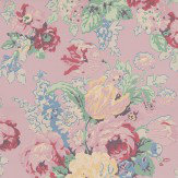Anna French Bouquet Pink Multi Wallpaper