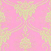 Anna French Damask Mint / Pink Wallpaper