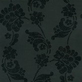 Anna French Velvet Jacquard Black Wallpaper