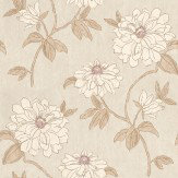 Sophie Conran Beatrice Ash Cream / Brown Wallpaper