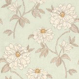Sophie Conran Beatrice Celadon Cream / Aqua Wallpaper