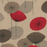 Sanderson Dandelion Clocks Red Wallpaper - Product code: DOPWDA101