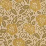 Sophie Conran Belle Moss Green / Silver Gold Wallpaper
