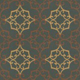 Nina Campbell Amati Gold / Bronze / Black Wallpaper - Product code: NCW4011/01