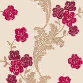 Osborne & Little Fontette Fuchsia Wallpaper - Product code: W6012/01