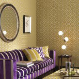 Osborne & Little Du Barry Lime / Silver Gold Wallpaper - Product code: W6013/01