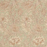 Morris Chrysanthemum Toile Eggshell / Gold Wallpaper